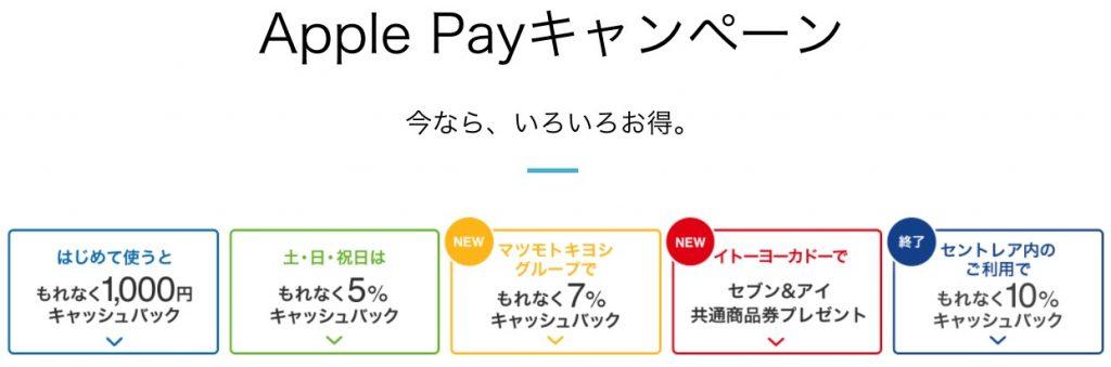 ApplePayキャンペーン