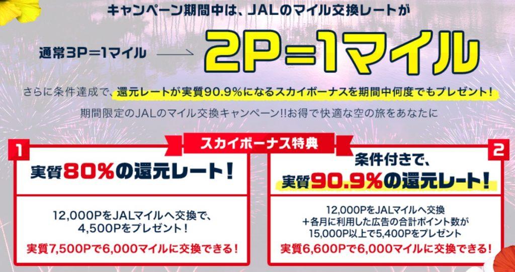 JALのマイル交換レート