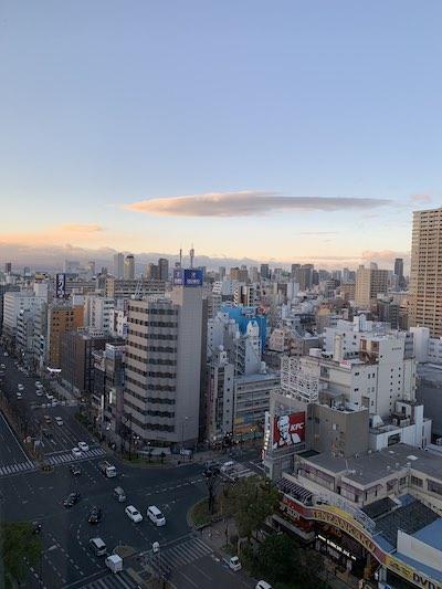 シェラトン都ホテル大阪景色