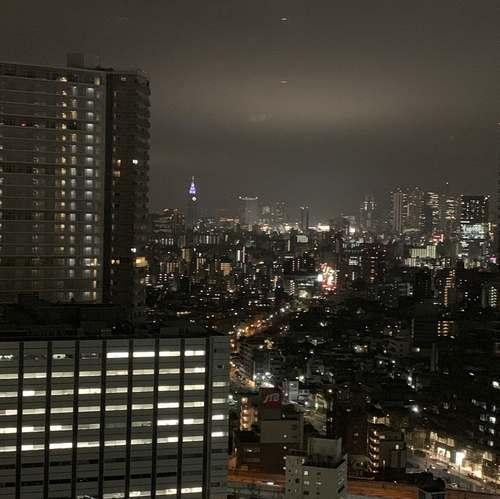 サンシャインシティプリンスホテル新宿夜景