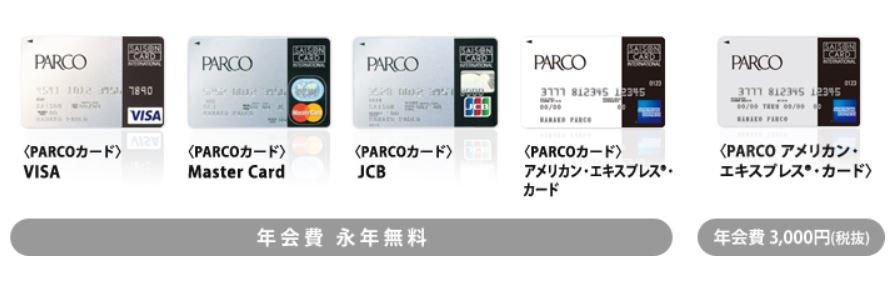 PARCOカード国際ブランド