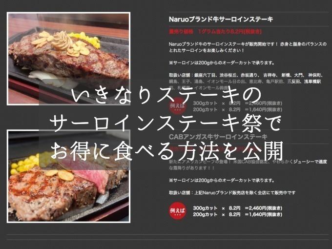 いきなりステーキで新元号「令和」歓迎フェアを開催!3日間限定価格のサーロインステーキをお得に食べる方法を公開