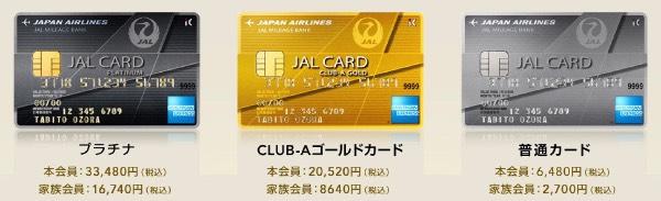 JALアメリカン・エキスプレス・カード年会費