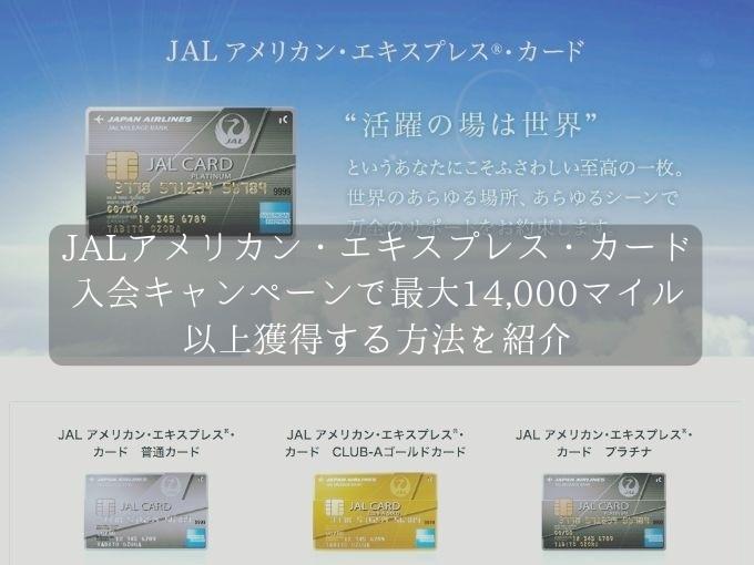JALアメリカン・エキスプレス・カードの新規入会キャンペーン!最大14,000マイル以上を獲得する方法を公開