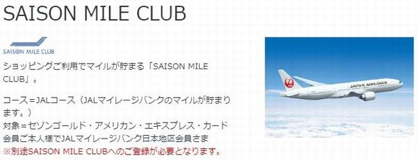 セゾンマイルクラブ飛行機