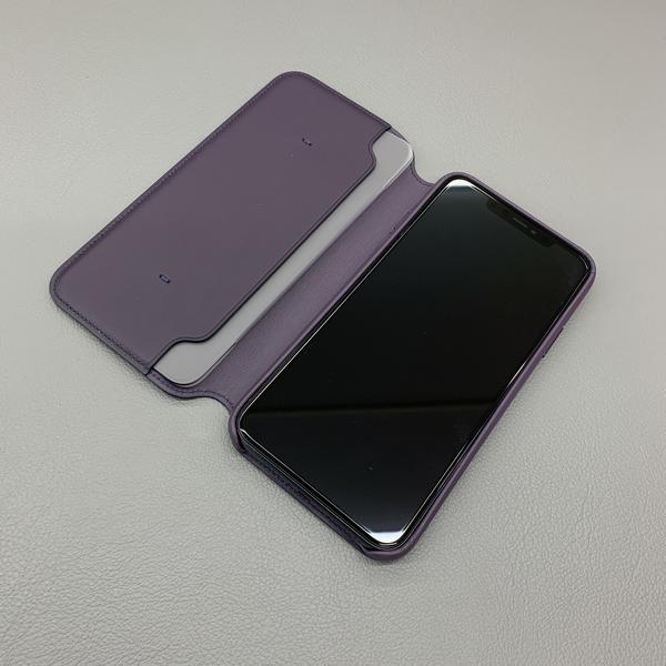 iPhone11ProMaxレザーフィリオと画面