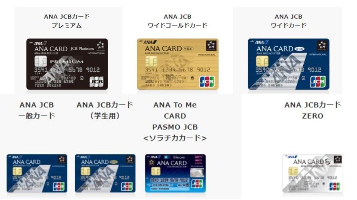ANA JCBカード種類