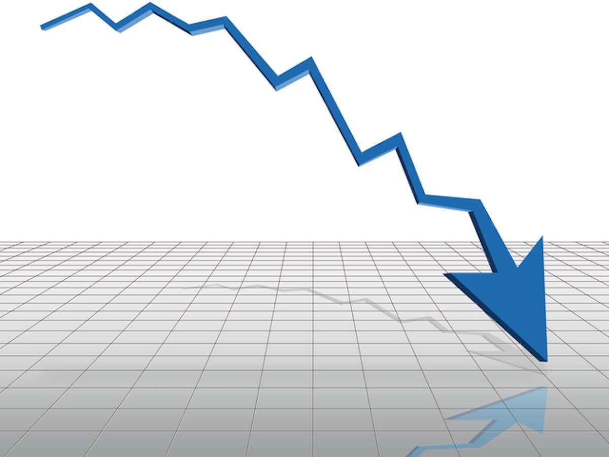グラフ下降線