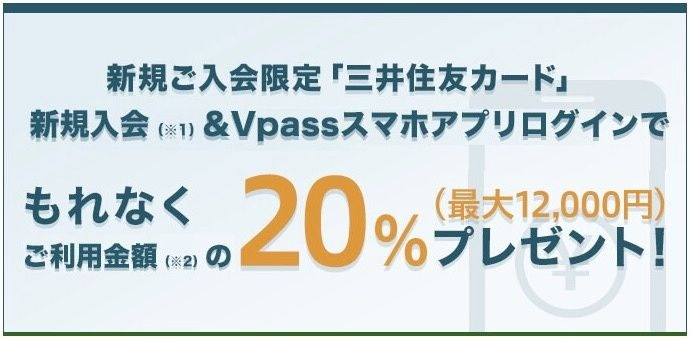 三井住友カード20パーセント還元