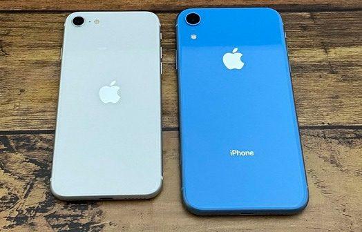 iPhoneSEとiPhoneXRの大きさ比較