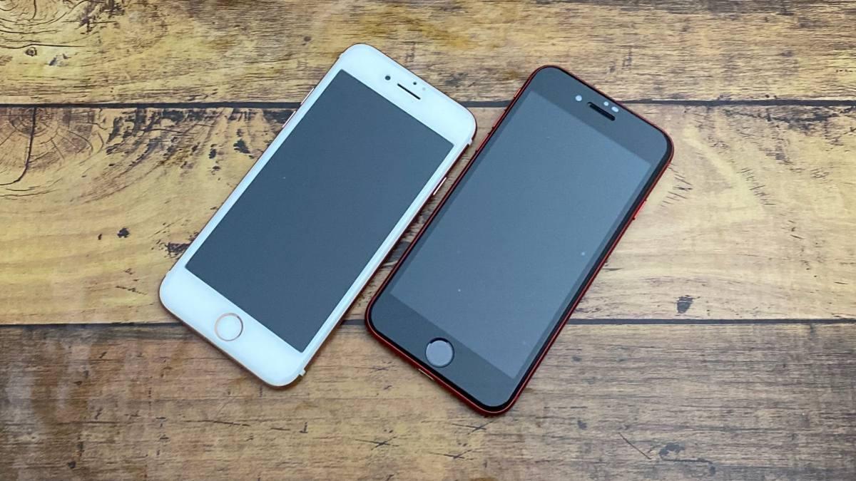 iPhone7とiPhoneSEの画面比較
