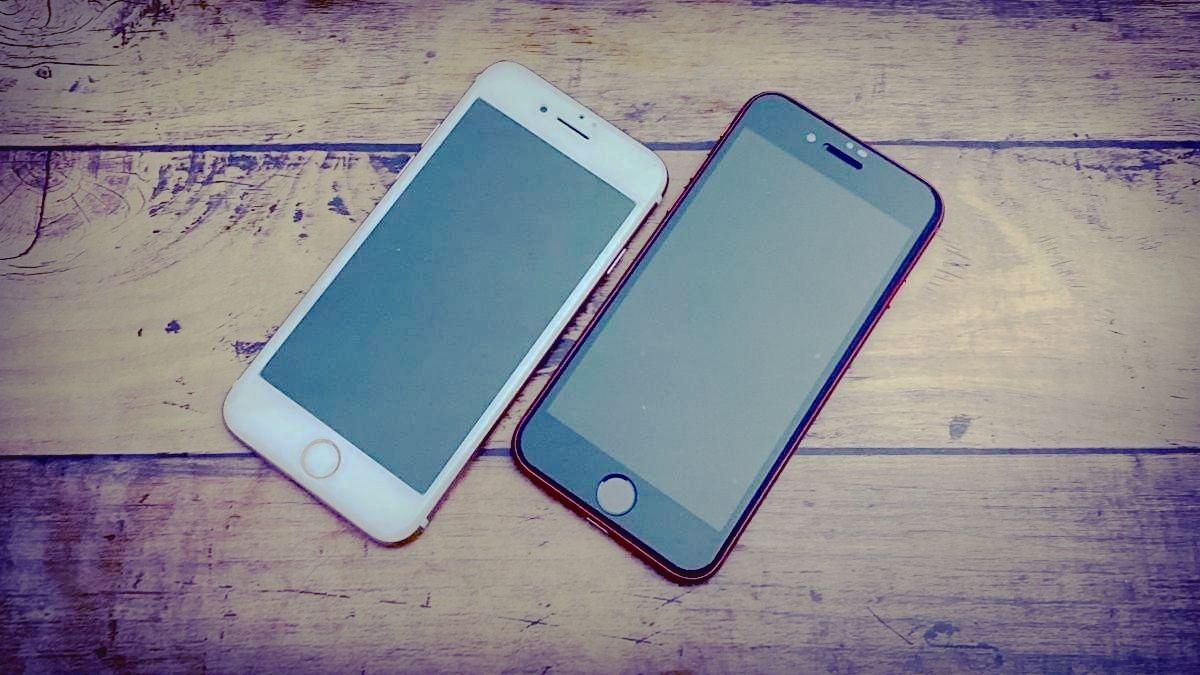 iPhone8とiPhoneSEの画面