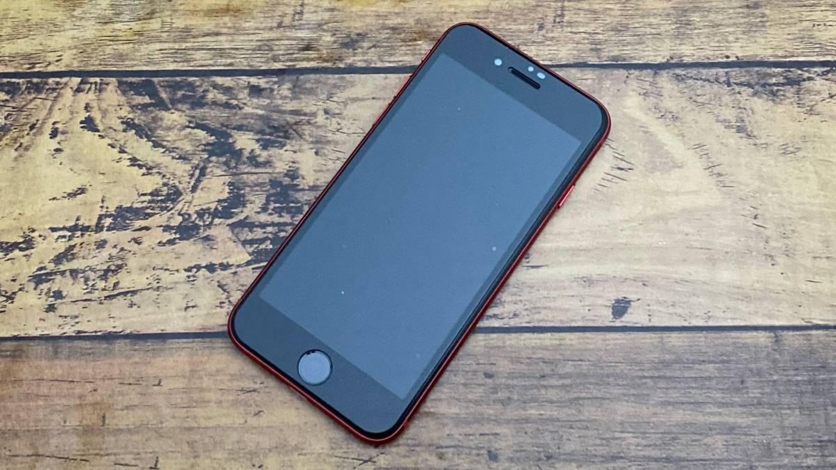 iPhoneSEにNIMASOガラスフィルム貼付