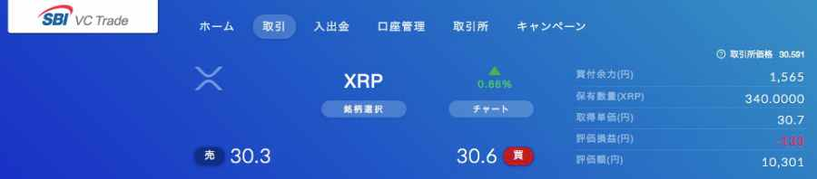 XRP保有状況