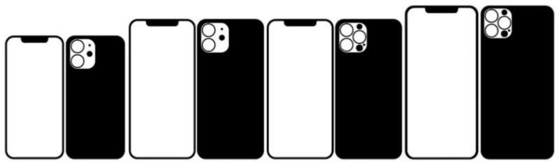 iPhone12とiPhone12Pro画面