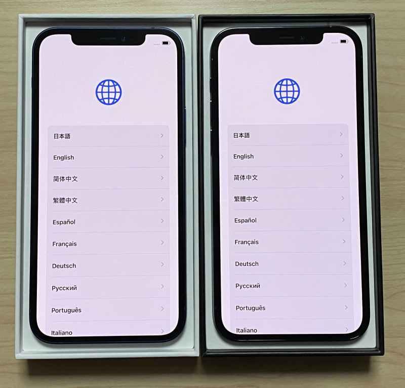 iPhone12ProとiPhone12画面比較