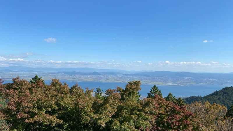 奥比叡ドライブウェイから琵琶湖一望
