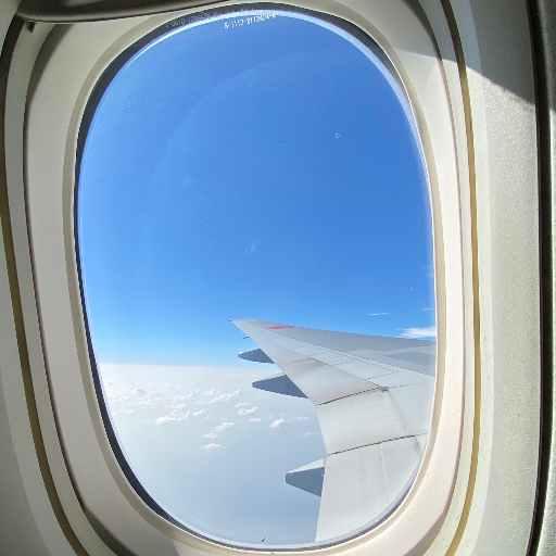 ANA航空機窓からの景色