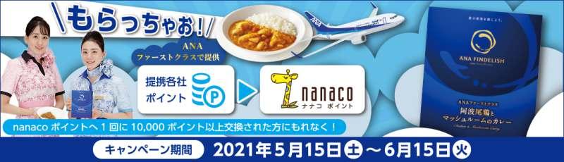nanacoポイントANAカレー