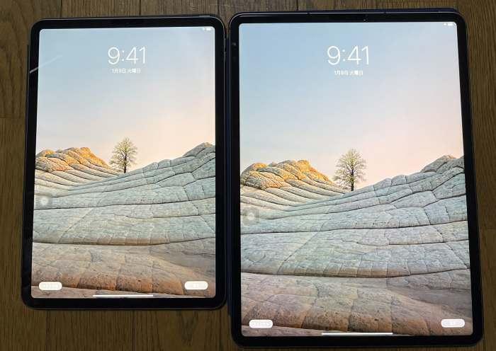 iPad Pro11インチと12.9インチの比較